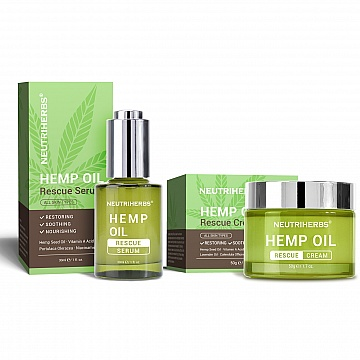 hampafroolja-kram-serum-set-akne-neutriherbs-hemp-oil-rescue-cream-serum-kit