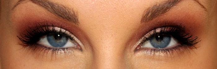 ögonskugga för bruna ögon